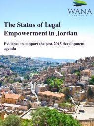 The Status of Legal Empowerment in Jordan: Evidence to Support the Post-2015 Development Agenda