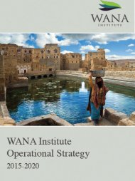 WANA Institute Operational Strategy 2015 - 2020