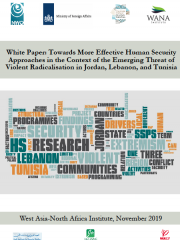 White paper: Towards More Effective Human Security Approaches in the Context of the Emerging Threat of Violent Radicalisation in Jordan, Lebanon, and Tunisia